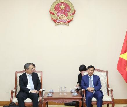 Bộ trưởng Nguyễn Ngọc Thiện tiếp tân Đại sứ Nhật Bản tại Việt Nam