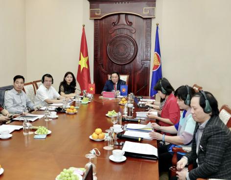 Thứ trưởng Bộ Văn hóa, Thể thao và Du lịch Nguyễn Văn Hùng hội đàm trực tuyến với Hội đồng kinh doanh Hoa Kỳ - ASEAN