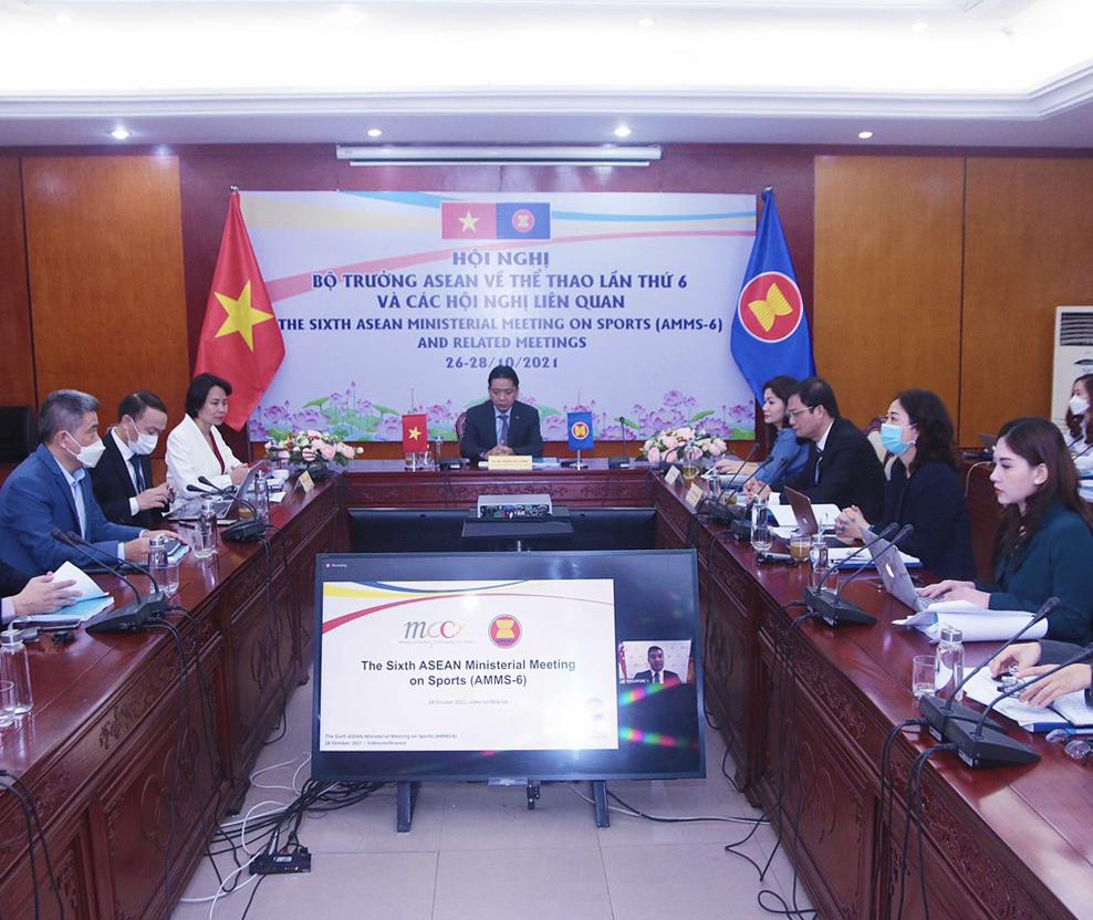 Thứ trưởng Bộ Văn hóa, Thể thao và Du lịch Hoàng Đạo Cương dẫn đầu đoàn Việt Nam tham dự Hội nghị Bộ trưởng Thể thao ASEAN lần thứ 6 theo hình thức trực tuyến