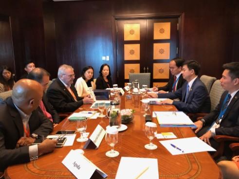 Thứ trưởng Bộ Văn hóa, Thể thao và Du lịch Lê Quang Tùng làm việc với đoàn Hội đồng Kinh doanh Hoa Kỳ - ASEAN (US-ABC)
