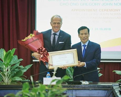 Bổ nhiệm Ông Gregory John Norman làm Đại sứ Du lịch Việt Nam nhiệm kỳ 2018 - 2021