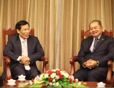 Hội đàm giữa Bộ trưởng Văn hóa Thể thao và Du lịch Việt Nam và Bộ trưởng Bộ Thông tin, Văn hóa và Du lịch Lào