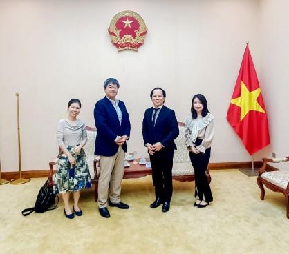 Phó Cục trưởng Trần Nhất Hoàng tiếp ông TSUCHIYA Takehiro, Tham tán Đại sứ quán Nhật Bản tại Việt Nam