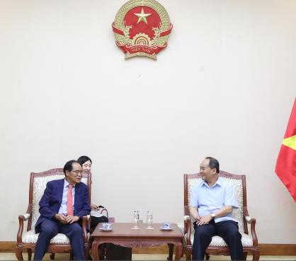 Thứ trưởng Lê Khánh Hải tiếp Ngài Park Noh Wan, Đại sứ Đặc mệnh toàn quyền Hàn Quốc tại Việt Nam