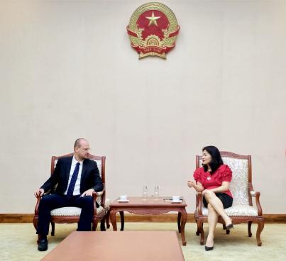 Cục trưởng Cục Hợp tác quốc tế Nguyễn Phương Hòa làm việc với  Bí thư thứ nhất Đại sứ quán Hungary tại Việt Nam