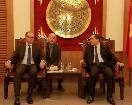 Thứ trưởng Lê Khánh Hải tiếp Ngài Thomas Loidl, Đại sứ Áo tại Việt Nam và Ông Karl Stoss, Chủ tịch Ủy ban Olympic Áo