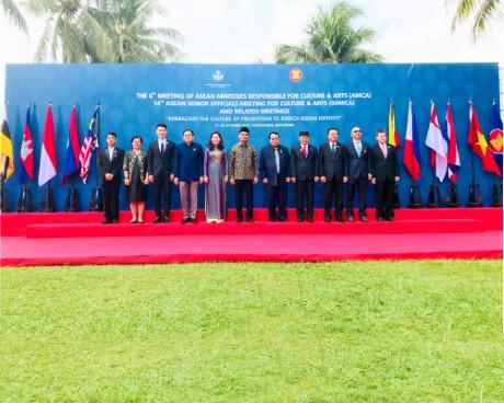 VIỆT NAM THAM DỰ HỘI NGHỊ BỘ TRƯỞNG  PHỤ TRÁCH VĂN HOÁ NGHỆ THUẬT ASEAN TẠI INDONESIA