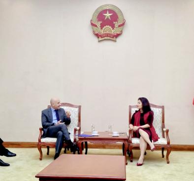 Cục trưởng Cục Hợp tác quốc tế Nguyễn Phương Hòa tiếp và làm việc  với Đại sứ Italia tại Việt Nam