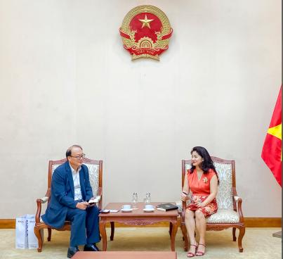 Cục trưởng Cục Hợp tác quốc tế Nguyễn Phương Hòa tiếp Trưởng đại diện Văn phòng KOCCA tại Việt Nam