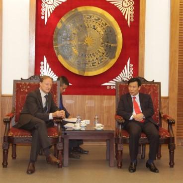 Bộ trưởng Nguyễn Ngọc Thiện tiếp Ngài Bruno Angelet - Đại sứ, Trưởng phái đoàn Liên minh châu Âu (EU) tại Việt Nam.