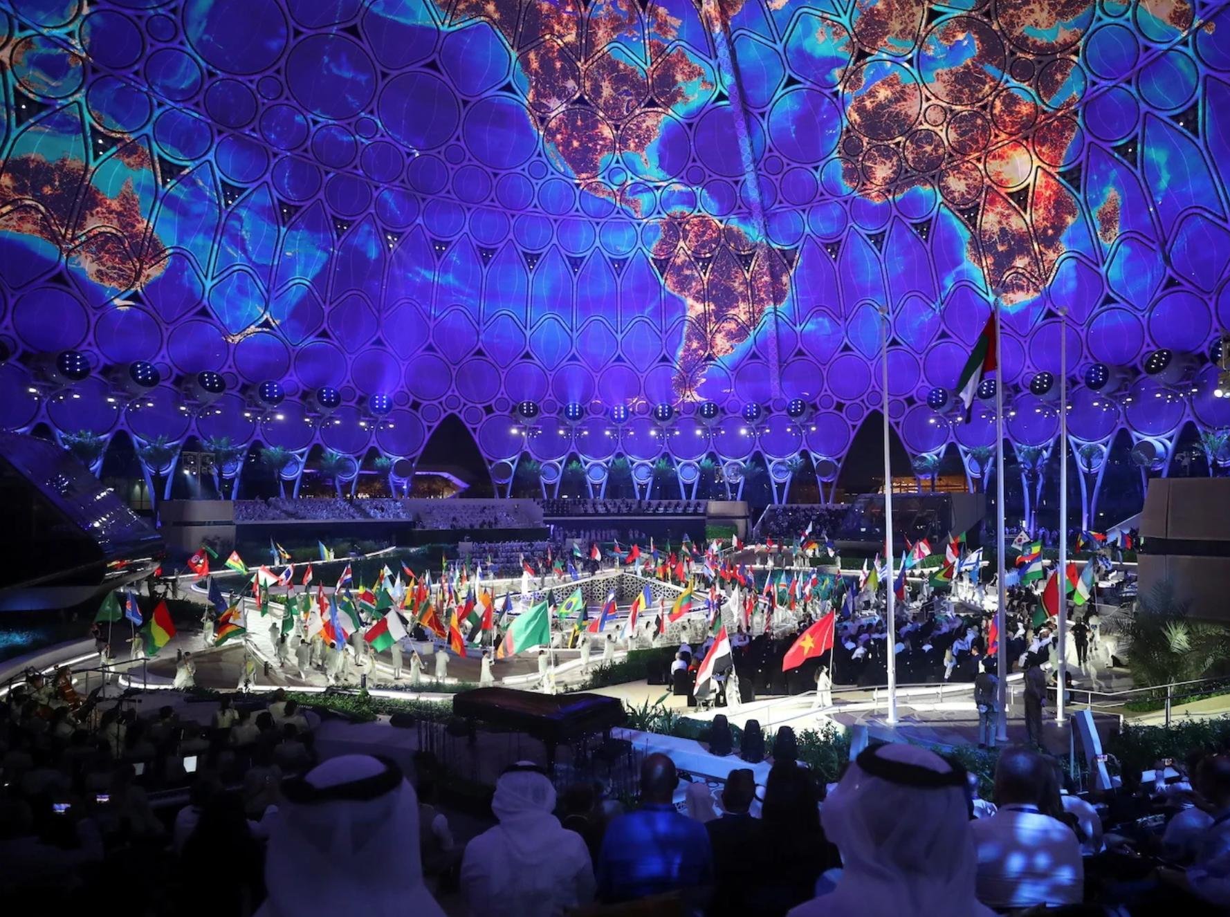 Choáng ngợp Lễ khai mạc Triển lãm Thế giới World Expo 2020 Dubai