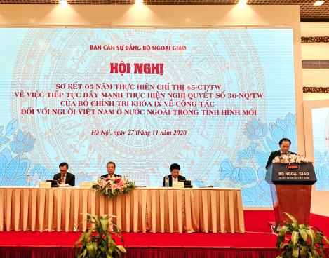Bộ Văn hóa, Thể thao và Du lịch tham dự Hội nghị sơ kết 05 năm thực hiện Chỉ thị 45-CT/TW về công tác đối với người Việt Nam ở nước ngoài