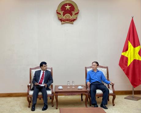 Phó Cục trưởng Cục Hợp tác quốc tế tiếp Bí thư thứ nhất Đại sứ quán Ấn Độ tại Việt Nam về kế hoạch tổ chức Ngày Quốc tế Yoga (21/6)
