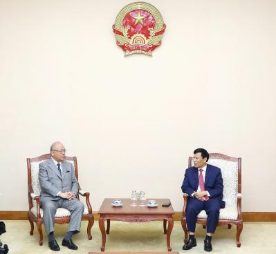 Bộ trưởng Nguyễn Ngọc Thiện tiếp và làm việc với Cố vấn Đặc biệt Liên minh Hữu nghị Nhật-Việt