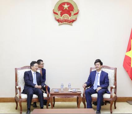 Thứ trưởng Lê Quang Tùng  tiếp và làm việc với Bí thư thành ủy TP. Hàng Châu, Trung Quốc