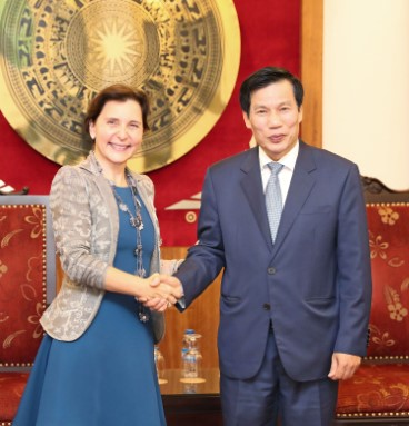 Minister Nguyen Ngoc Thien met with Ms. Cecilia Piccioni, Ambassador of Italy in Vietnam on the occasion of ending her tenure.