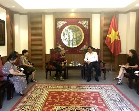 Tiếp Ông Nguyễn Văn Bổn, Chủ tịch đối ngoại, Hội người Việt Nam tại Pháp (UGVF)