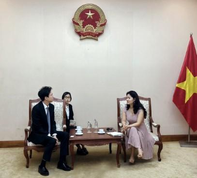 Cục trưởng Cục Hợp tác quốc tế tiếp Giám đốc Trung tâm Văn hoá Hàn Quốc tại Việt Nam