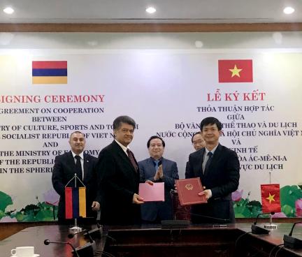 Việt Nam và Armenia ký thoả thuận hợp tác du lịch