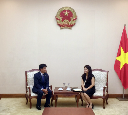 Cục trưởng Cục Hợp tác quốc tế tiếp Trưởng đại điện tập đoàn KUMHO tại Việt Nam