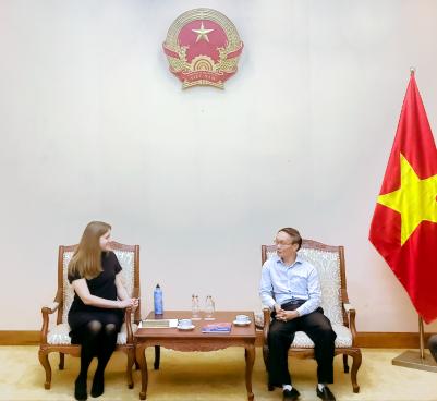 Phó Cục trưởng Lê Ngọc Định tiếp Quyền Giám đốc Trung tâm Khoa học và Văn hóa Nga tại Hà Nội