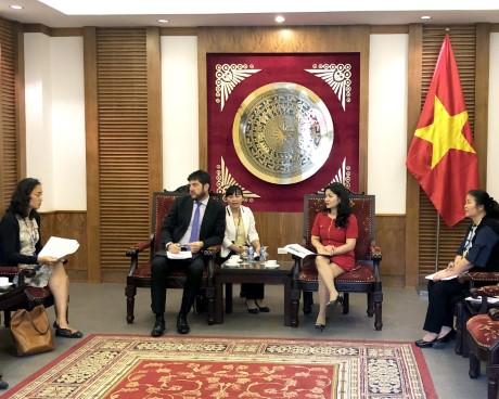 Làm việc với Văn phòng UNESCO Hà Nội về Dự án phát triển điện ảnh ASEAN