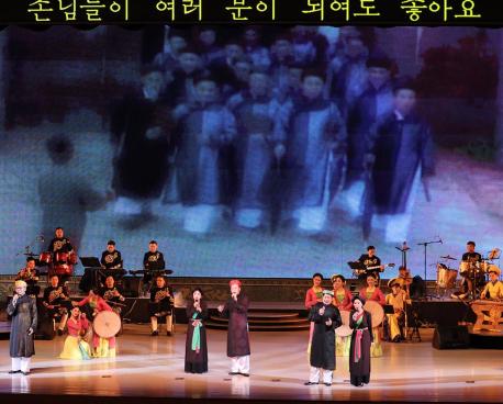 """Chương trình nghệ thuật """"Ánh dương Mùa Xuân"""" của Đoàn Nghệ thuật Quốc gia Việt Nam để lại ấn tượng mạnh mẽ với nhân dân Triều Tiên"""