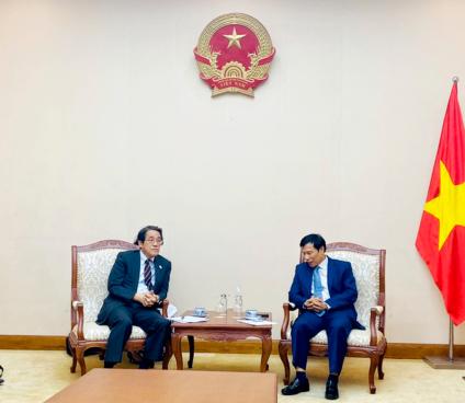 Bộ trưởng Nguyễn Ngọc Thiện tiếp và làm việc với Đại sứ Nhật Bản tại Việt Nam.