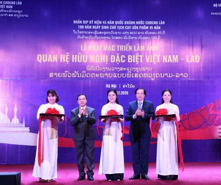Khai mạc Triển lãm ảnh Quan hệ hữu nghị đặc biệt Việt Nam-Lào
