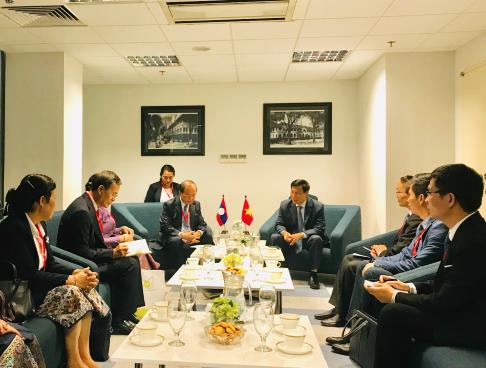 Bộ trưởng Nguyễn Ngọc Thiện tiếp Bộ trưởng Bộ Thông tin, Văn hoá và Du lịch Lào