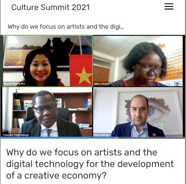 Cục trưởng Cục Hợp tác quốc tế Nguyễn Phương Hòa tham dự Hội nghị Thượng đỉnh Văn hóa Abu Dhabi 2021