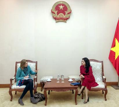 Cục trưởng Cục Hợp tác quốc tế tiếp và làm việc với Giám đốc Hội đồng Anh tại Việt Nam.